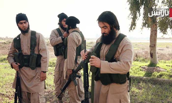 ژمارەیەک داعشی کوردی ناو کەتیبەی تیرۆریستیی سەلاحەدین