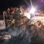 آتش گرفتن خودروی شهروند بلوچ در پی تیراندازی نیروی انتظامی آشار سرباز