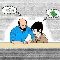 آموزش قرآن بصورت صمعی وبصری توسط قاری معروف و محبوب آقا/کاریکاتور