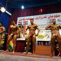 ورزشکار سنندجی در مسابقات پرورش اندام در اقلیم کوردستان، مقام سوم را از آن خود کرد