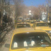 رانندگان تاکسی مریوان، اعتصاب نمودند/ تصویر