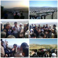 اعتراضات مدنی مردم جوانرود به تخریب تپه باستانی الله اکبر